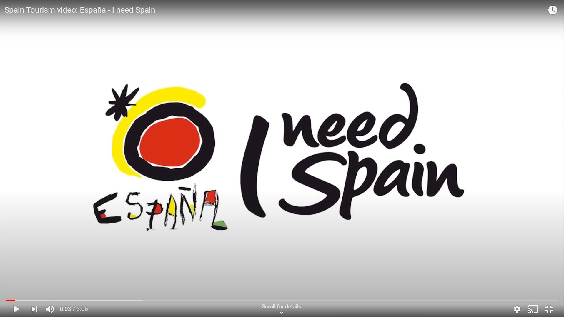 I NEED SPAIN - SPANISH TOURIST BOARD